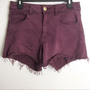 American Eagle High Waisted Distressed Shorts